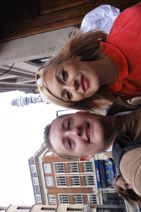 Fearne Cotton outside Radio 1, Great Portland Street